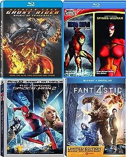 Marvel 5-Movie Bundle - Marvel Knights Iron Man Extremis & Spider-Woman Ghost RideR: Spirit of Vengeance, The Amazing Spider-Man 2 (3D/Blu-ray/DVD/Digital) & Fantastic 4 (Exclusive) Blu-ray Bundle