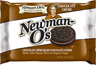 Newman's Own Newman-O's, Chocolate Crème Filled Chocolate Cookies, 13-Ounce Packages (Pack of 6)