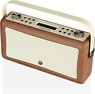 VQ Hepburn Mk II DAB+ Digital Radio with FM, Bluetooth & Alarm Clock – Brown