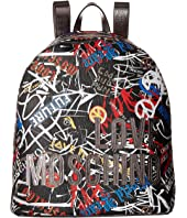 LOVE Moschino - Graffiti Print Backpack