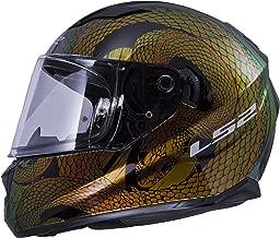 LS2 Helmets Motorcycles & Powersports Helmet's Full Face Stream Chameleon Snake Bite Large