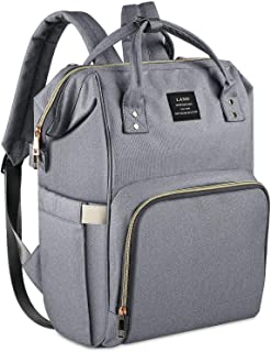Land Diaper Bag for Mom, Ticent Baby Diaper Backpack Organizer Large Capacity Compact Dad Baby Bag Back Pack Toddler Nappy Bag Bookbag, Gray