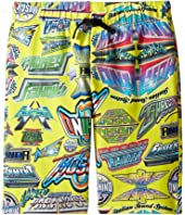 Moschino Kids - All Over Logo Print Shorts (Big Kids)