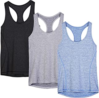 Workout Tank Tops for Women – Racerback Athletic Yoga Tops, Running Exercise Gym..