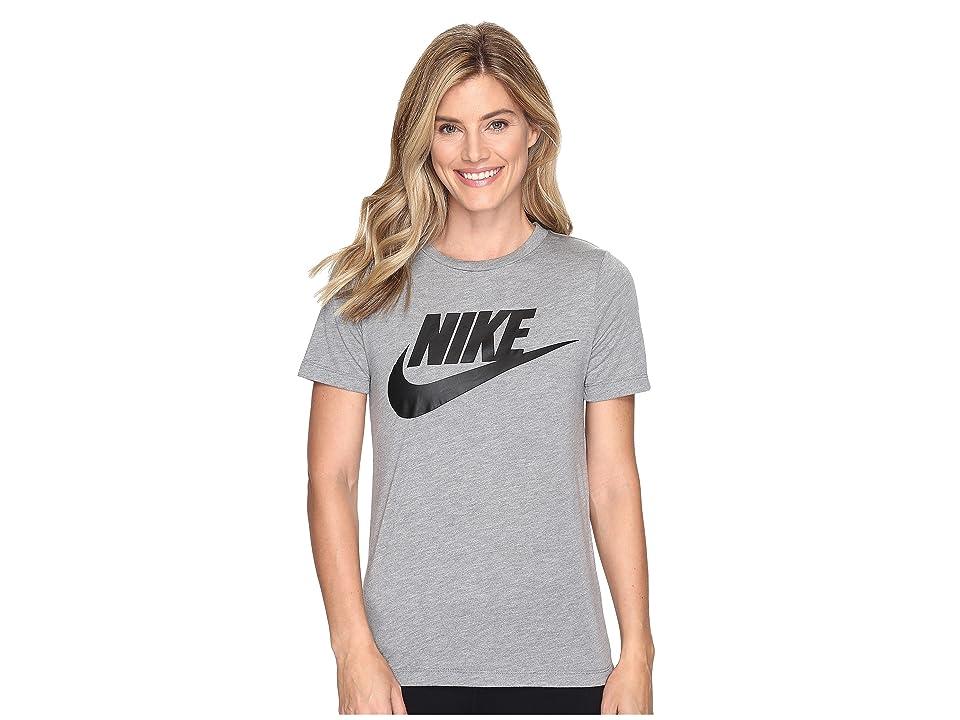 Nike Sportswear Essential Short Sleeve Top (Carbon Heather/Anthracite/Black) Women