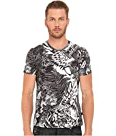Just Cavalli - Slim Fit Jungle Tattoo Printed T-Shirt