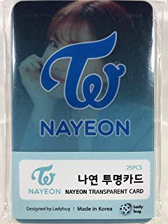NAYEON ナヨン - TWICE トゥワイス グッズ / 透明 フォトカード 25枚セット - TRANSPARENT CARD 25pcs [TradePlace K-P...