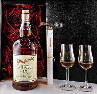 Geschenk Glenfarclas 12 Jahre 1 Liter Single Malt Whisky  Glaskugelportionierer  2 Bugatti Gläser