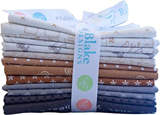Riley Blake Designs Lori Holt Neutral Curated Fat Quarter Bundle 12 Pcs