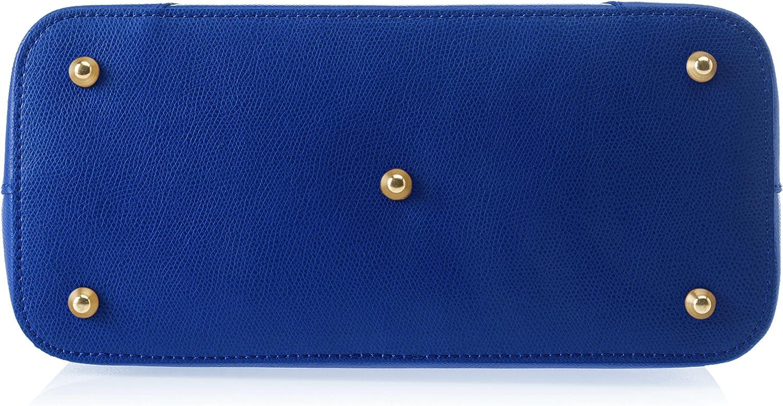 Chicca Borse 8656, Sac à l'épaule Femme, 30x22x14 cm (W x H x L) Blu (Blue)