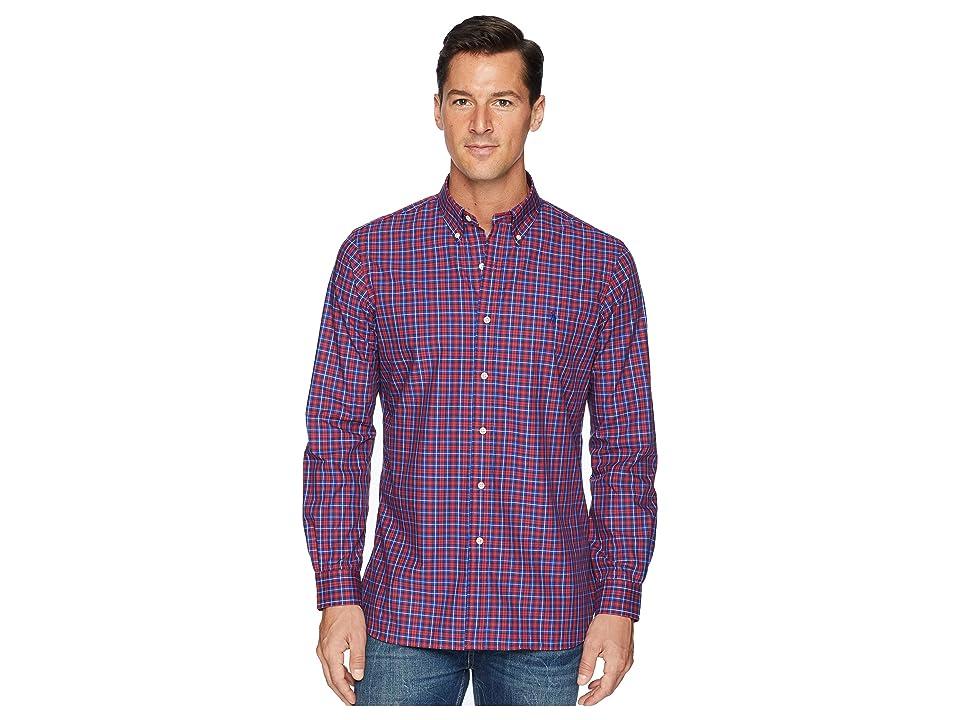 Polo Ralph Lauren Button Down Poplin Sport Shirt in Classic Fit (Brick Red/Midnight Multi) Men