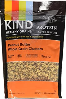 Kind Healthy Snacks Peanut Butter Whole Grain Cluster, 11 Ounce - 6 per case.