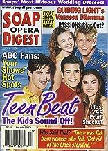 Amber Tamblyn, David Tom, Ashley Bashioum, Jesse Metcalfe, Jason Cook, Soaps' Most Outrageous Wedding Gowns - July 4, 2000 Soap Opera Digest Magazine