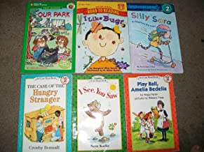 An I Can Read 6 Book Lot (The Case of the Hungry Stranger Level 2, I See, You Saw, Play Ball, Amelia Bedelia Level 2, Our Park Level 2, I Like Bugs Level 2, and Silly Sara Level 2)
