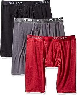 Fruit of the Loom Mens LXP3LL6C Premium Luxe Modal Blend Long Leg Boxer Briefs Underwear - Multi