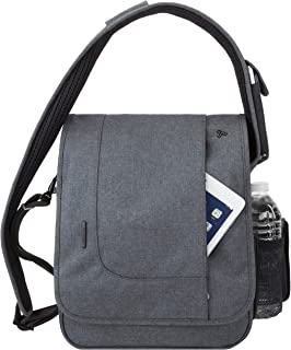 Travelon Anti-Theft Urban North South Messenger Bag, Slate (Gray) - 42584 550