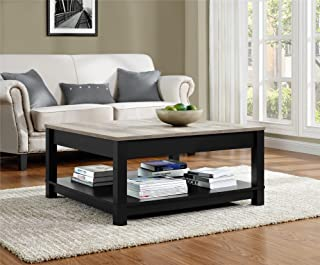 Best black square coffee table wood Reviews
