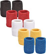 أساور معصم رياضية فريدة متعددة الألوان لرابطة كرة السلة، 5 أزواج من أساور المعصم في كل عبوة