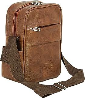 Storite Stylish PU Leather Sling Cross Body Travel Office Business Messenger One Side Shoulder Bag for Men Women (18x8x27c...