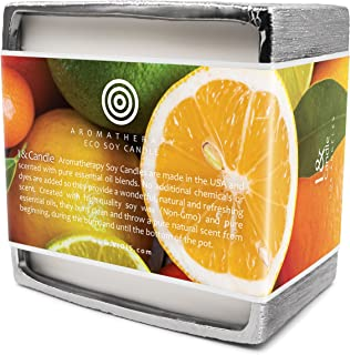 I & Candle, Big Pot 50 oz. Orange & Citrus Aromatherapy Premium Eco Soy 5-Wick Candle. Made in the USA with Pure Essential Oils Blend and All Natural Ingredients. Net Weight: 50 oz.(1.41 kg)