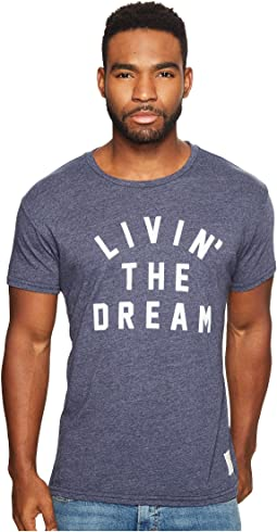 The Original Retro Brand - Living The Dream Short Sleeve Tri-Blend T-Shirt
