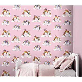 Pink Amour Hearts Wallpaper Birds Girl Children/'s Playroom Bedroom Debona