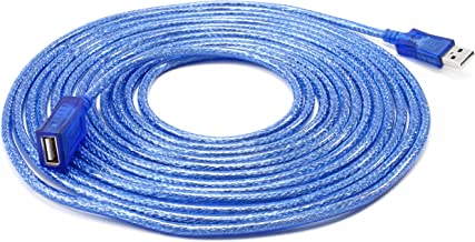 DTECH 15 Feet USB 2.0 Extension Cable USB A Male to A Female Cord - 5 Meters - Blue
