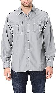Trailside Supply Co. Men's Quick-Dry Nylon Convertible Long Sleeve Fishing Shirt