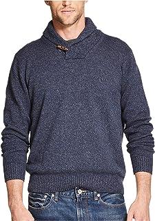 Weatherproof Mens Shawl Collar Knit Sweater