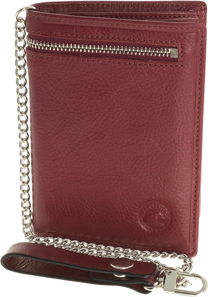 Elephant d`oro,portafoglio, porta documenti, porta carte di credito, in pelle con catena in metallo S5682R