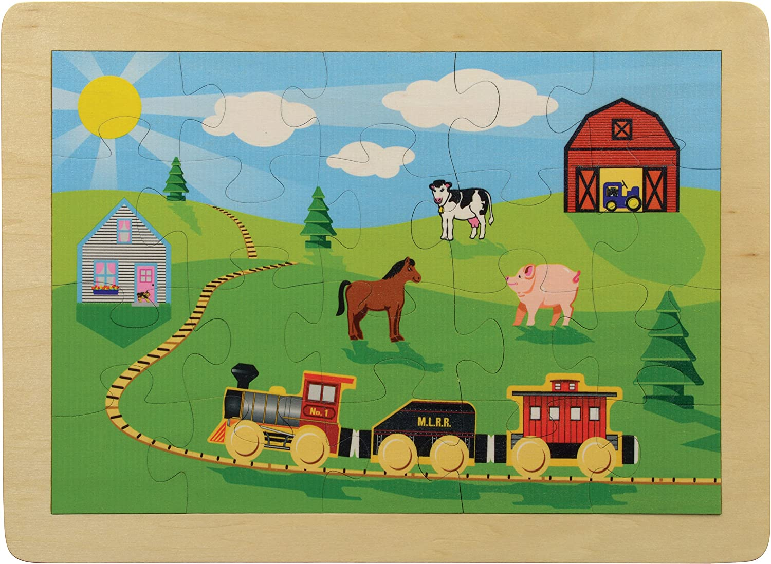 11  x 15  Countryside Railroad Puzzle - Made in USA