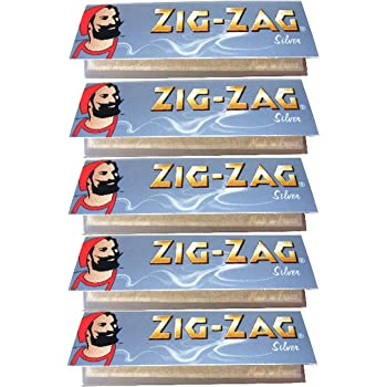 ZIG-ZAG Silver Ultra Fine Rolling Papers 1 1//4 Size 25 Packs Full Box