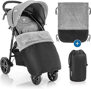 Zamboo Universal Decke für Kinderwagen und Buggy - wasserabweisende Outdoor Beindecke für Sportwagen & Jogger - Schwarz Grau
