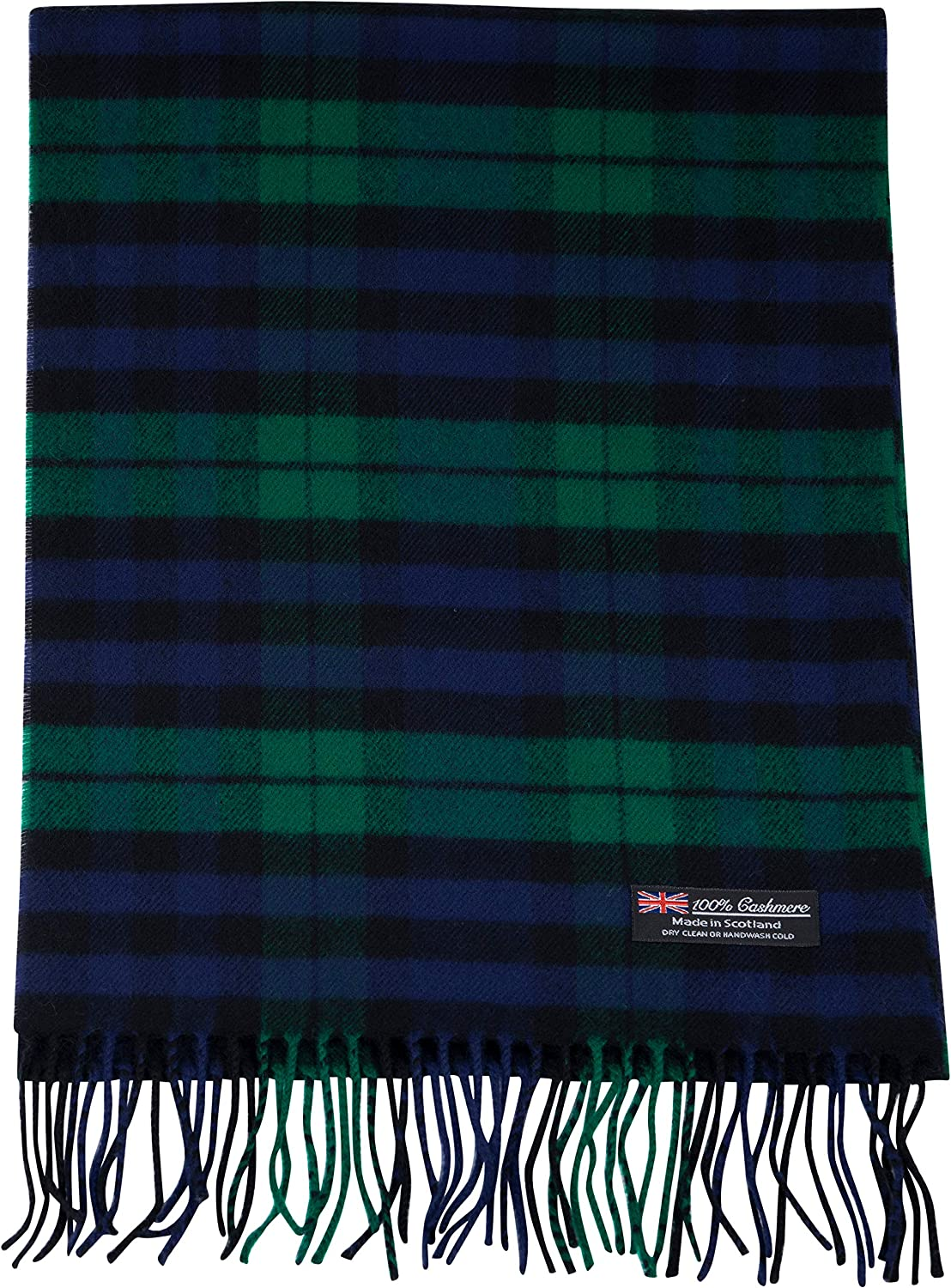 2 PLY 100% Cashmere Scarf Elegant Collection Made in Scotland Wool Solid Plaid Tartan Men Women Scarf