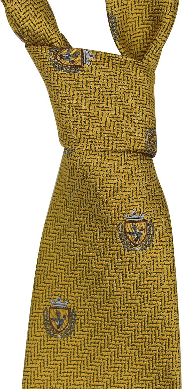 Ermenegildo Zegna gold Bird Silk Tie
