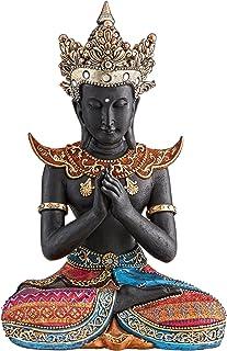 Design Toscano QS3333 Thai Sukhothai Buddha Asian Statue, 11.5x18x26.5 cm, Full Color