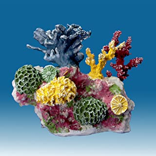 Instant Reef DM012 Artificial Coral Inserts Decor, Fake Coral Reef Decorations for Colorful Freshwater Fish Aquariums, Marine and Saltwater Fish Tanks