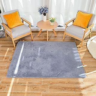 HEXIN alfombras pie de Cama,Alfombras de Moderna para Salon de Estar de Pila Gruesa No se desprenden y Alfombra de Dormito...