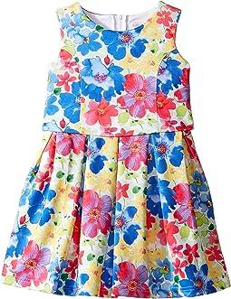 Sleeveless Princess Bodice Popover Dress (Little Kids)