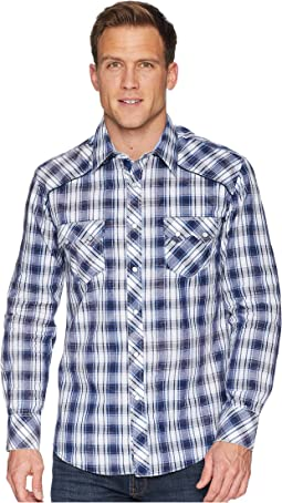 Long Sleeve Snap Plaid B2S5705