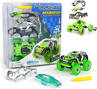 Modarri M1 Space Invaders Monster Truck   Build Your Car Kit Toy Set - Ultimate Toy Car: Make Your Own Car Toy - for Thousands of Designs - Educational Take Apart Toy Vehicle
