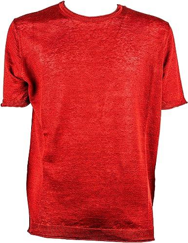 Kangra Homme 90082347 Rouge Lin T-Shirt