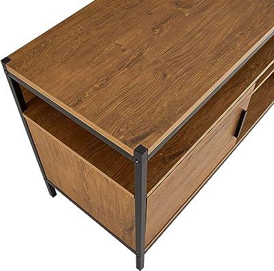 Amazon Com Winsome Wood 3 Piece Adam Tv Stand With Corner