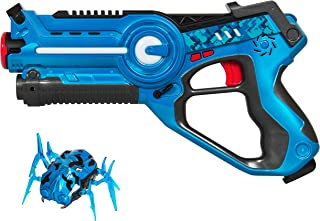 Best Choice Products Kids Laser Tag Blaster Set w/ Robot Bug, 4 Modes, Multiplayer, Tracker, Blue