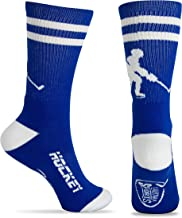 ChalkTalkSPORTS Hockey Half Cushioned Crew Socks | Hockey Player | Multiple Colors