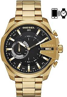 Diesel Mens Diesel ON Mega Chief Hybrid Smartwatch Gold Tone Stainless Steel,Model (DZT1013)