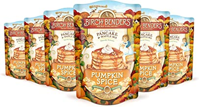 Pumpkin Spice Pancake and Waffle Mix by Birch Benders, Non-GMO Verified, Family Size 96 Ounce (16oz 6-pack)