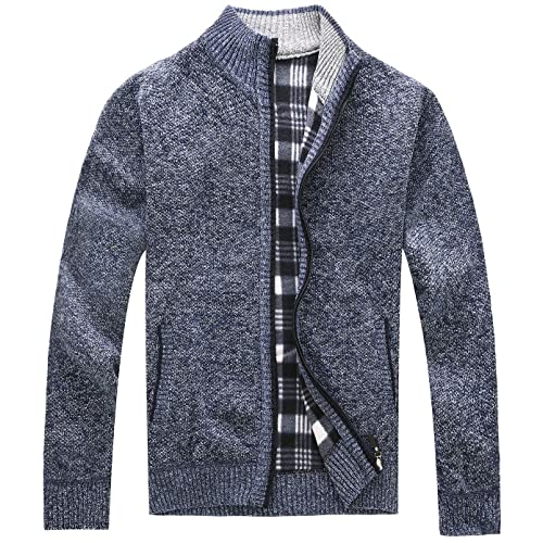 81742df58eba Vcansion Men s Classic Full Zip Knitted Cardigan Sweaters