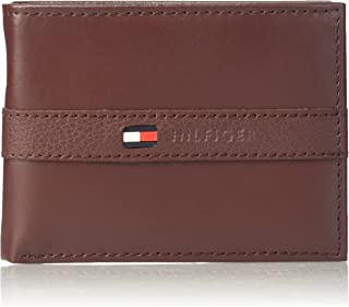Tommy Hilfiger Men's Thin Sleek Casual Bifold Wallet with...