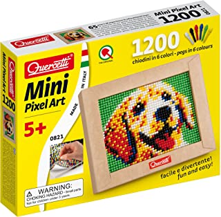 Quercetti Mini Dog Pixel Art for Ages 5 + (Made in Italy)